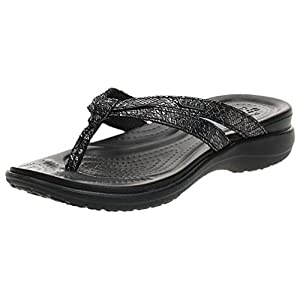 Crocs Women's Capri Strappy Flip Flop Casual Comfortable womens Sandal