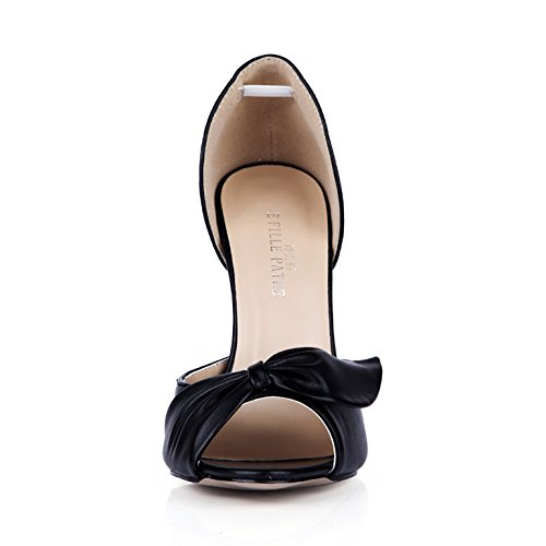 Nuovi Prodotti Calzature Neri Cena Su Elegante Alta Di Clic Black Scarpe Punta Autunno Tacco Donna Fare Pesce Fiori v7IUXqW