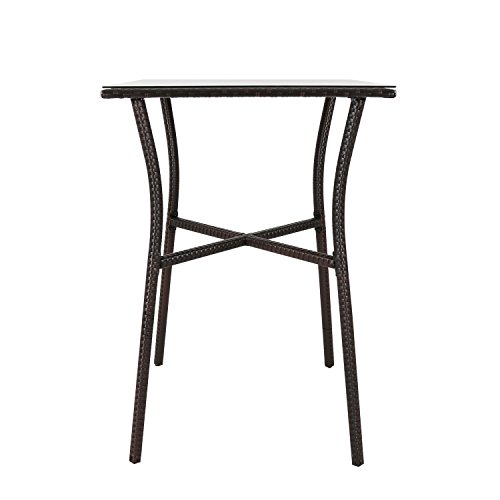 Kinbor Patio Outdoor Wicker Barstool Set Pool Furniture Patio High Chair (Bar Height Bistro Table) by Kinbor (Image #5)