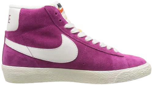 Suede Nike Mid Fucsia Sportive Vntg Scarpe Wmns Blazer donna bianco pvpntq