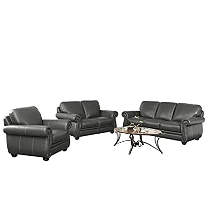 Prime Amazon Com Abbyson Living Austin 3 Piece Leather Sofa Set Gmtry Best Dining Table And Chair Ideas Images Gmtryco