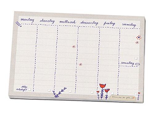 A5 Wochenplaner für alle deine Aufgaben & To do's, vielseitiger Wochenplan Abreißblock zum Planen deiner Termine und Erledigungen, Beige Eine der Guten