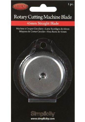 Simplicity Deluxe Rotary Cutting Machine Blade, Straight