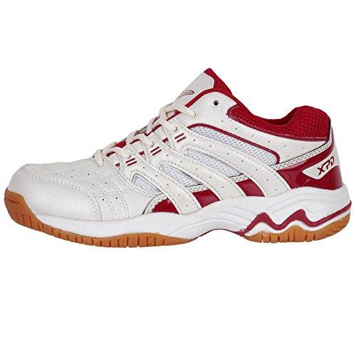 XPD Jump Natural Wave 667voleibol zapatos Shoe interior no suela de goma. White - Weiß/Créme/Rot
