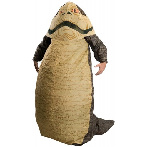 Jawa Costumes 501st - Rubie's Costume Star Wars Jabba The Hut Deluxe Inflatable Adult Costume, Brown,