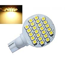 GRV T10 921 194 24-3528 SMD LED Bulb lamp Super Bright DC 12V Pack of 12 (Warm White / 12pcs)