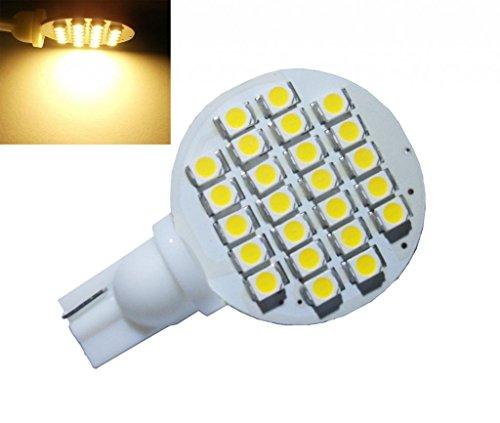 GRV T10 921 194 24-3528 SMD LED Bulb lamp Super Bright DC 12V Pack of 12 (Warm White/12pcs)