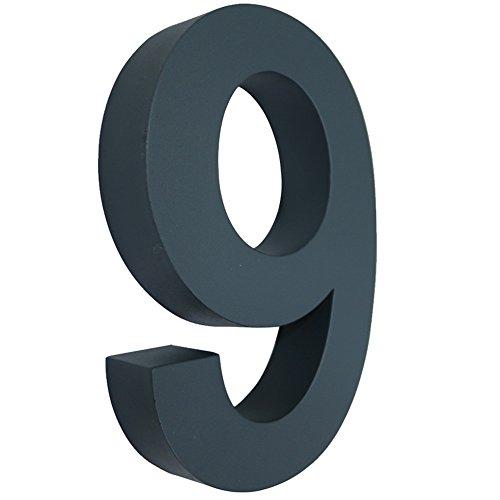 Hausnummer Anthrazit mctech 3d hausnummer edelstahl design arial beschichtet hausnummern