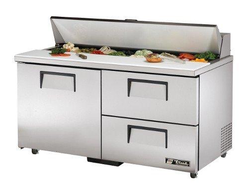 Ada 2 Door Sandwich - True TSSU-60-16D-2-ADA Solid Door and Drawer Sandwich/Salad Unit