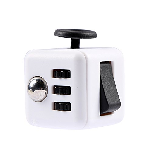 Kids Fidget Cube White Black Children Adults Stress Relief Anxiety Attention Toy Devolopment Gift