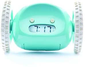 Clocky, The Original Runaway Alarm Clock on Wheels, Aqua