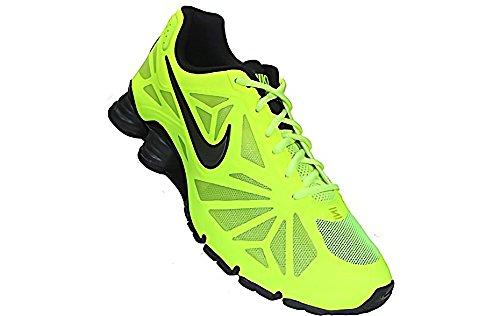 Nike Shox Turbo 14 De Los Hombres Corriendo Voltios / Metálico Gris Oscuro / Negro Frc Grn RlBk1LB