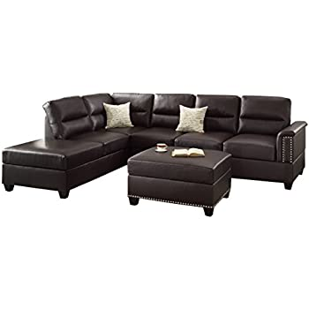 Poundex Upholstered Sofas/Sectionals/Armchairs, Espresso