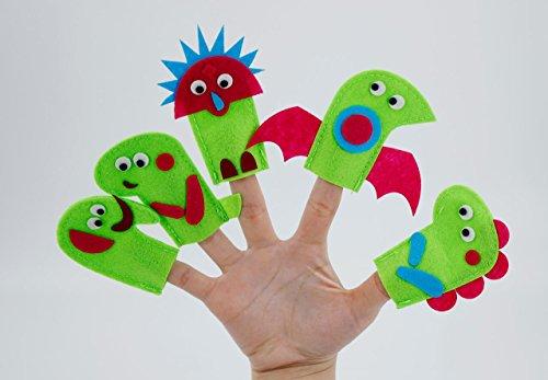 10pcs doux Dinosaure faite à la main Ensemble de marionnettes à doigts pour enfants