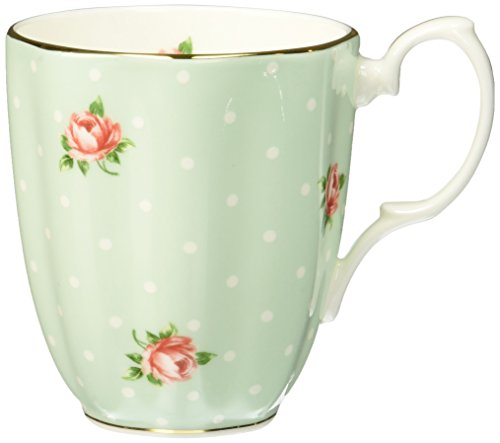 - Royal Albert POLROS26729 Polka Dot & Rose Mug