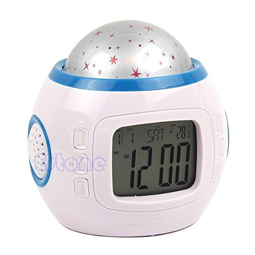 Sky Star Children Baby Room Night Light Projector Lamp Bedroom Music Alarm Clock