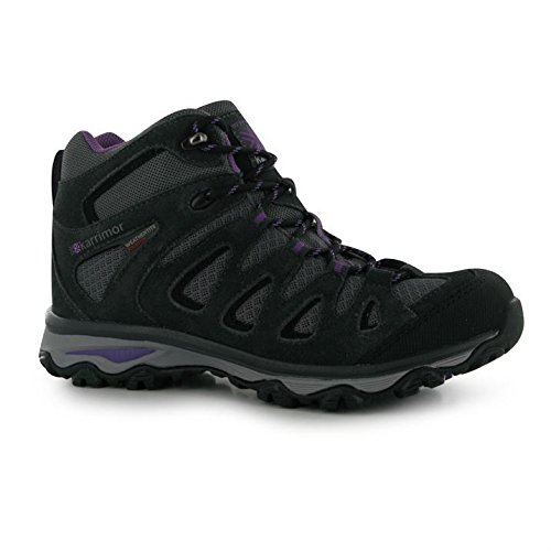 Womens Waterproof Boots Border Reinforced Walking Purple Karrimor Breathable Mid Charcoal qwgSAaq4d