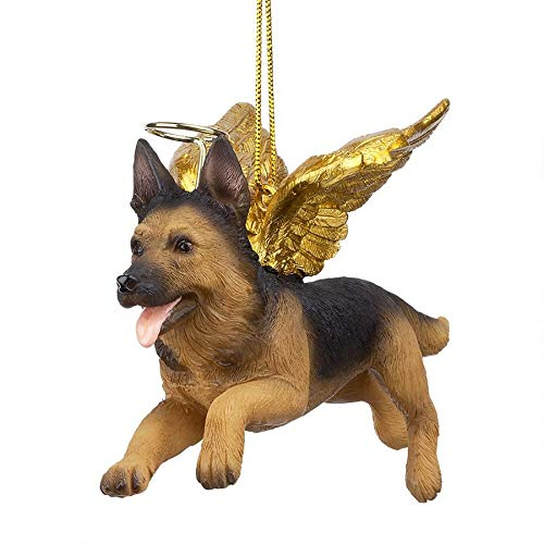 Christmas Tree Ornaments - Honor The Pooch German Shepherd Holiday Angel Dog Ornaments (A Shepherd Christmas)