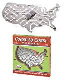 : Coast to Coast Puzzle All-metal Brain Teaser: Just Steer Your Way From NY to LA!