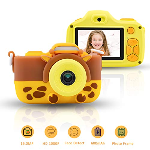 """Kids Camera for Girls 16.0MP 1080P HD Shockproof Cameras Mini Child Camcorder for Little Girl 2.0"""" Screen Soft Silicone Case Photo Frame Kids Digital Camera for Outdoor Play Birthday Yellow from Aurho"""