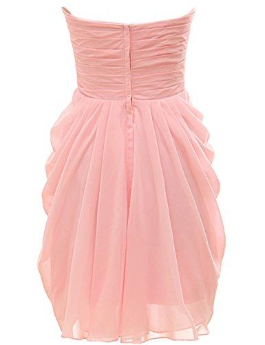 Mall Rosa maniche Donna Vestito Senza Bridal Sdgq1w1