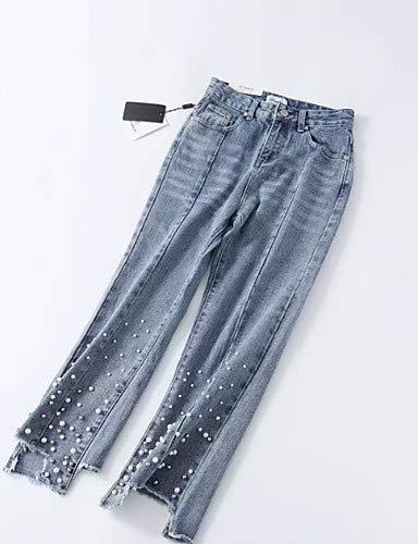 Chic Pantaloni Tinta Light Jeans Blue Unita Donna Yfltz Da RFWZHBB