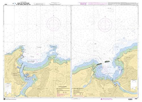 SHOM Chart 7431: Baies de Fontarabie et de Saint-Jean-de-Luz, 33 x 47 inches, Premiere Bond - 47 Jean