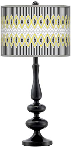 - Desert Geometric Giclee Paley Black Table Lamp - Giclee Gallery
