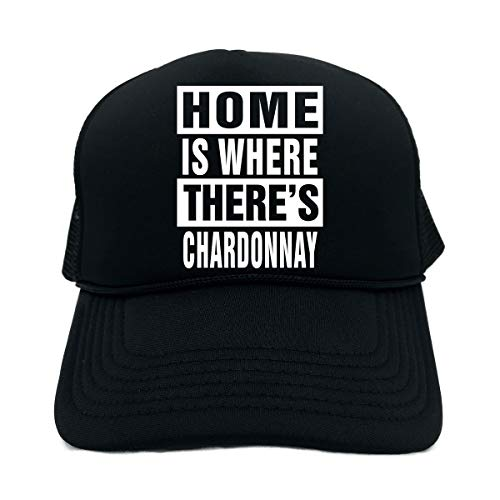 Signature Depot Funny Trucker Hat (Home is Where There's Chardonnay (Food) Unisex Adult Foam Cap