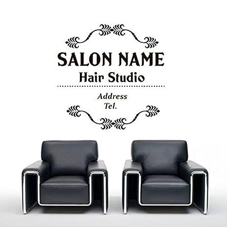 Custom Hair Salon Nombre Girl Belleza Peinado Peluquería ...