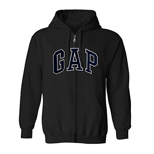 (GAP Men's Full Zip Fleece Logo Hoodie (XX-Large, Charcoal))