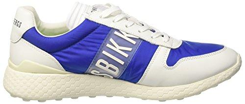 Bikkembergs Strik-Er 924, Zapatillas de Estar por Casa para Hombre Blu (Blue/white)