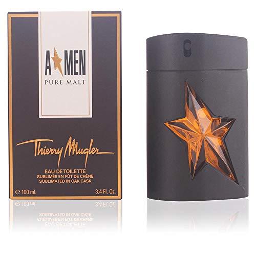 (Angel Men Pure Malt by Thierry Mugler Eau De Toilette Spray (Limited Edition) for Men, 3.40 Ounce )