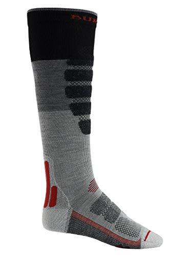 Burton Men's Performance + Lightweight Socks, Gray Heather Block, Large ()