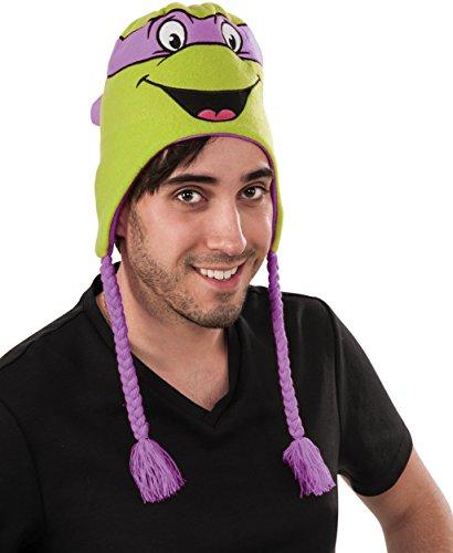 Rubie's Men's Teenage Mutant Ninja Turtles Donatello laplander Hat, As Shown, One Size
