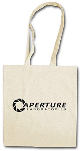 VINTAGE APERTURE LABORATORIES Hipster Shopping Cotton Bag Cestas Bolsos Bolsas de la compra reutilizables - Science Logo Labs Game Portal