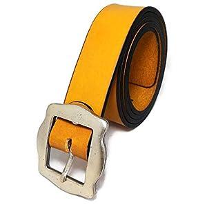 almela - Cinturón mujer - Piel legítima - 3,5 cm de ancho - Cuero - 35mm - Hebilla plata vieja - Vaqueros, jeans… | DeHippies.com