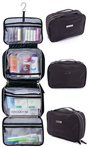 (Jagurds Hanging Travel Toiletry Bag, 11 x 7.5 x 3-Inch, Black)