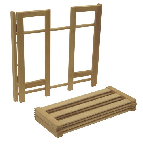 Winsome Wood Foldable 4-Tier Shoe Rack, Natural by Winsome Wood (Image #2)