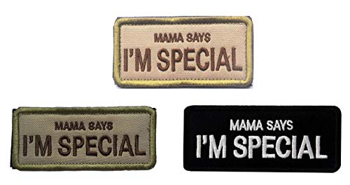 Antrix 3 Pieces Mama Says I'm Special Tactical Embroidered Funny Patch for Men, Children and Pets