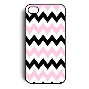 International Market Trading Pink Black Chevron Zigzag Hard Case Cover for Apple Iphone 4 Iphone 4s