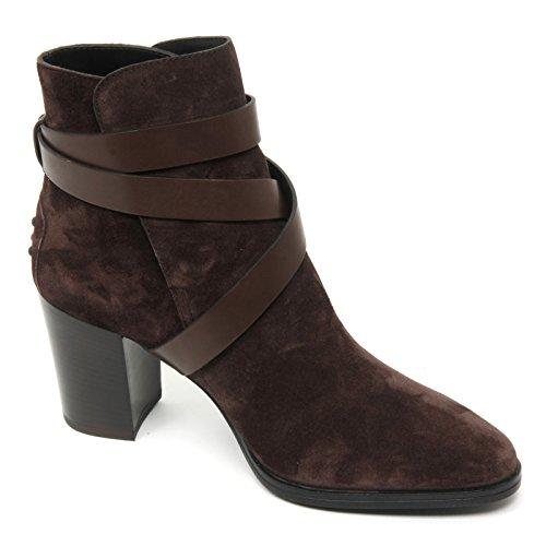 Tod's Woman T70 Donna B9046 Scarpa Shoe Scuro Marrone Tronchetto Gomma Boot grwgAxvHq
