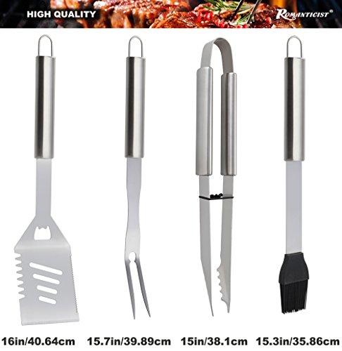 Romanticist 18 PC Kit Barbecue in Acciaio Inox - Kit Barbecue Premium per Uomo Regalo di Compleanno di papà - Perfetti… 2 spesavip