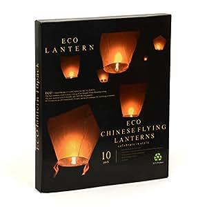 Gift House International Eco - Lote de linternas de papel (10 unidades)