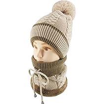 Ledamon Winter Slouchy Beanie Cable Knit Skull Hat Scarf Set Ski Cap for Women Men