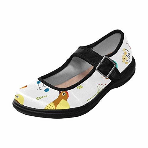InterestPrint Womens Comfort Mary Jane Flats Casual Walking Shoes Multi 15 t7KdHuQAfv