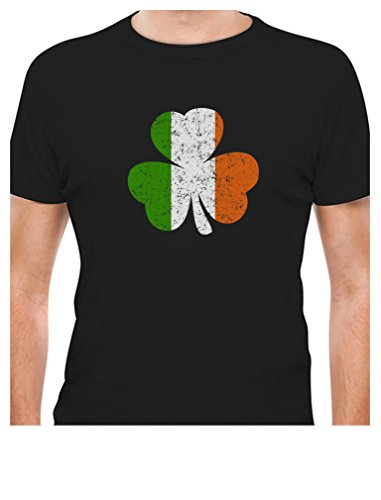 Ireland Shamrock - Tricolor Irish Flag Clover St. Patrick's Day T-Shirt X-Large Black