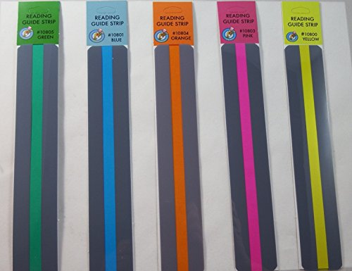 - Reading Guide Highlighter Strips, Set of 5 (Blue, Orange, Green, Pink and Yellow)