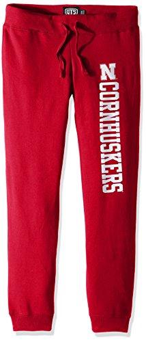 NCAA Nebraska Cornhuskers Women's Ots Fleece Pants, Small, Red
