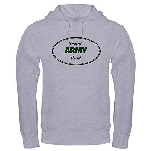 CafePress Proud Army Aunt Pullover Hoodie, Classic & Comfortable Hooded Sweatshirt Heather Grey